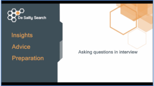 Asking questions in your interview